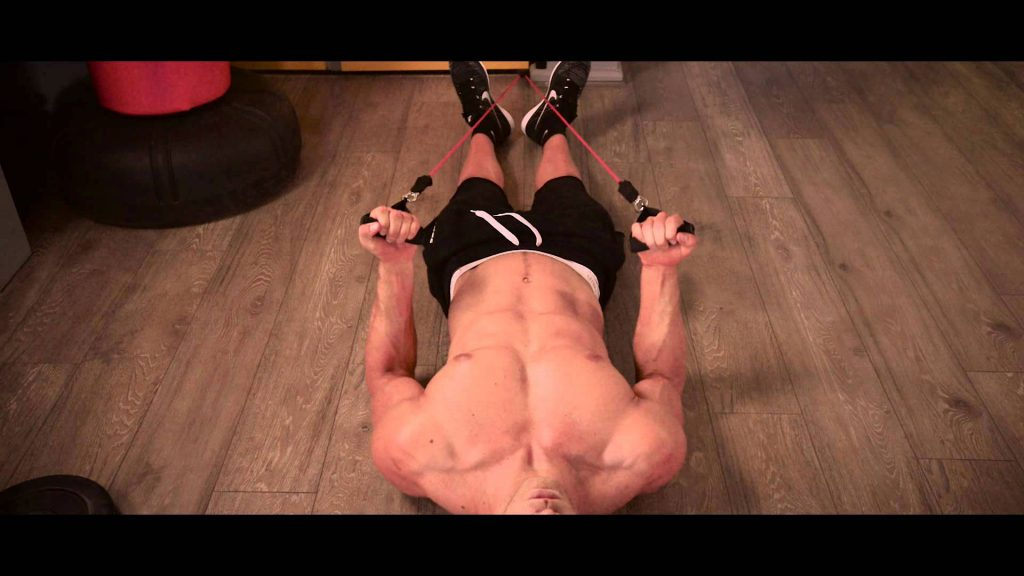 resistance-band-excercise-lying-down-bicep-curl